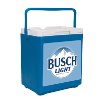 Busch Light 20 Can Stacker in Blue with Full Panel Logo
