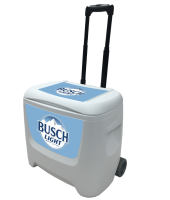 Busch Light 28 Quart White Cooler