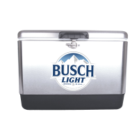 Busch Light 54 Quart  Stainless Steel Cooler With Brand logo