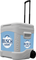 Busch Light 60 Quart Rolling Cooler With Full Brand Graphics