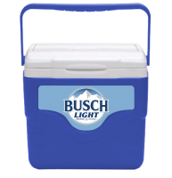 Busch Light 9 Quart Cooler in Blue with Full Panel Logo