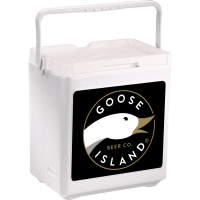 Goose Island 20 Can Stacker in White with Full Panel Logo