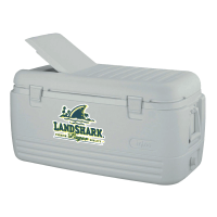 Landshark 100 Quart  White Igloo Cooler With Brand Logo