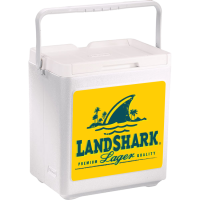 Landshark 20 Can Stacker in White with Full Panel Logo