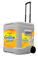 Michelob Golden Light Draught 60 Quart Rolling Cooler With Full