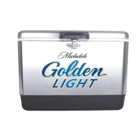 Michelob Golden Light 54 Qt Stainless Steel Cooler w/Brand Logo