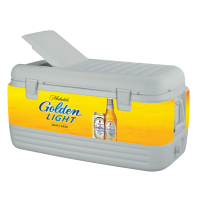 Michelob Golden Light 100 Quart Igloo Cooler With Wrap Graphics
