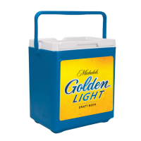 Michelob Golden Light 20 Can Stacker in Blue with Full Panel Log