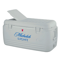 Michelob Light 100 Quart  White Igloo Cooler With Brand Logo