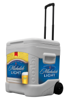 Michelob Light 60 Quart Rolling Cooler With Full Brand Graphics