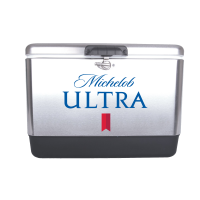 Michelob Ultra 54 Quart  Stainless Steel Cooler With Brand logo