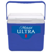 Michelob Ultra 9 Quart Cooler in Blue with Full Panel Logo