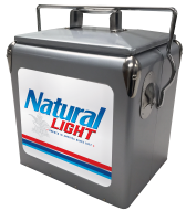Natural Light 13 Quart Retro Cooler