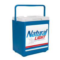 Natural Light 20 Can Stacker in Blue with Full Panel Logo