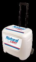 Natural Light 28 Quart White Cooler