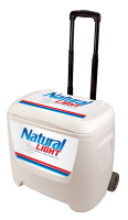 Natural Light 28 Quart White Cooler