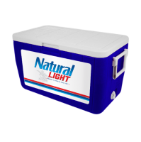 Natural Light 48 Quart Cooler With Full Brand Graphics