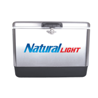 Natural Light 54 Quart  Stainless Steel Cooler With Logo