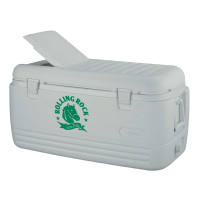 Rolling Rock 100 Quart  White Igloo Cooler With Brand Logo