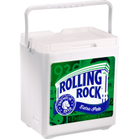 Rolling Rock 20 Can Stacker in White with Full Panel Logo