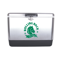 Rolling Rock 54 Quart  Stainless Steel Cooler With Brand logo