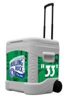 Rolling Rock 60 Quart Rolling Cooler With Full Brand Graphics