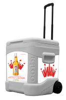 Select 55 60 Quart Rolling Cooler With Full Brand Graphics