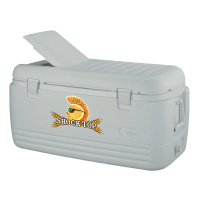 Shock Top 100 Quart  White Igloo Cooler With Brand Logo