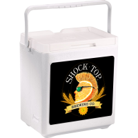 Shock Top 20 Can Stacker in White with Full Panel Logo