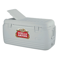 Stella Artois 100 Quart White Igloo Cooler With Brand Logo