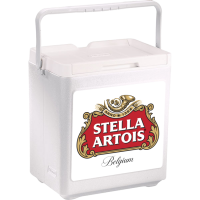 Stella Artois 20 Can Stacker in White with Full Panel Logo