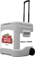 Stella Artois 60 Quart Rolling Cooler With Brand Graphics